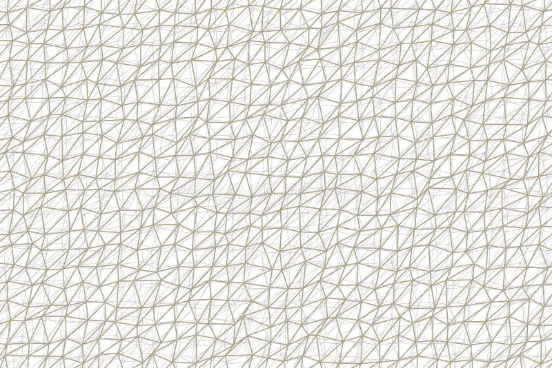 Абстрактная схематическая геометрическая картина прокладки треугольника Повторение, сеть, грязное & дизайн иллюстрация штока