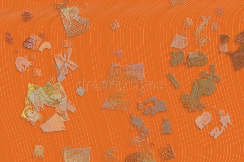 Абстрактная схематическая геометрическая смешанная грязная предпосылка форм Цифров, крышка, фон & повторение бесплатная иллюстрация