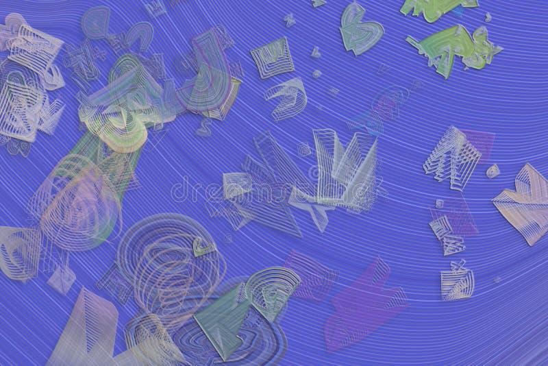 Абстрактная схематическая геометрическая смешанная грязная предпосылка форм Холст, влияние, иллюстрация & фон бесплатная иллюстрация