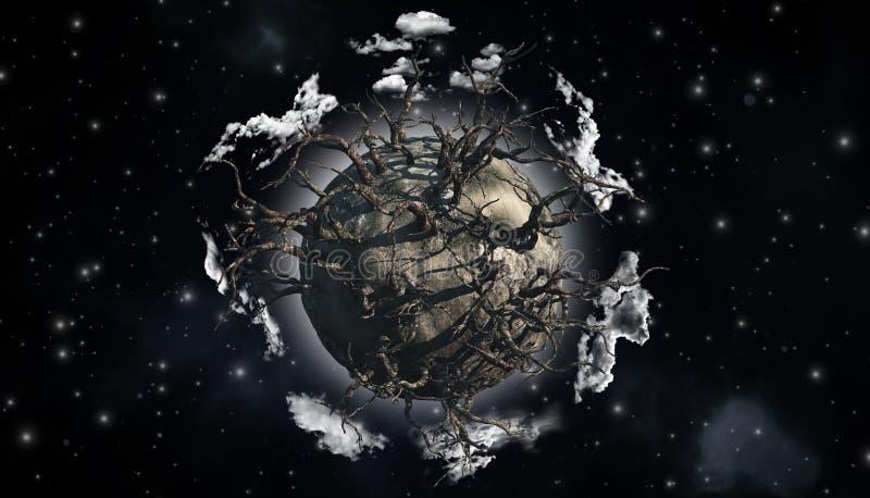 Абстрактная сцена планеты бесплатная иллюстрация
