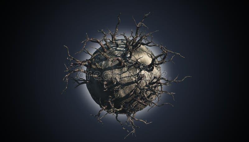 Абстрактная сцена планеты иллюстрация вектора