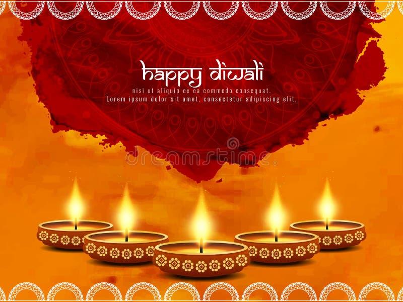 Абстрактная счастливая предпосылка Diwali бесплатная иллюстрация