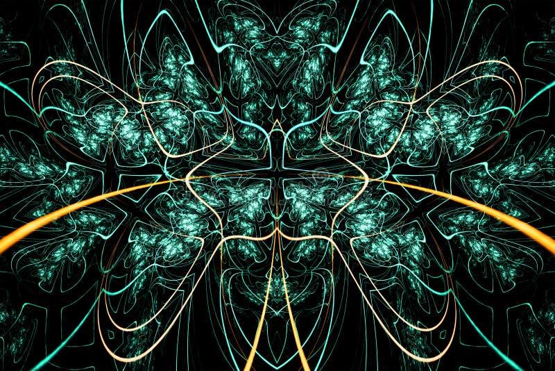 Абстрактная сюрреалистическая предпосылка с звездой Дизайн фрактали фантазии для плакатов, обоев Произведенный компьютер, цифрово бесплатная иллюстрация