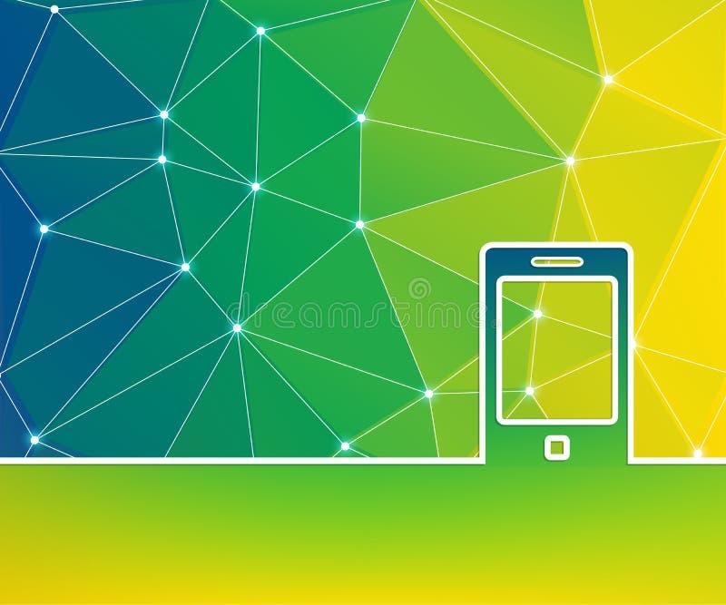 Абстрактная творческая предпосылка концепции для применений сети и черни, дизайна шаблона иллюстрации, дела infographic бесплатная иллюстрация