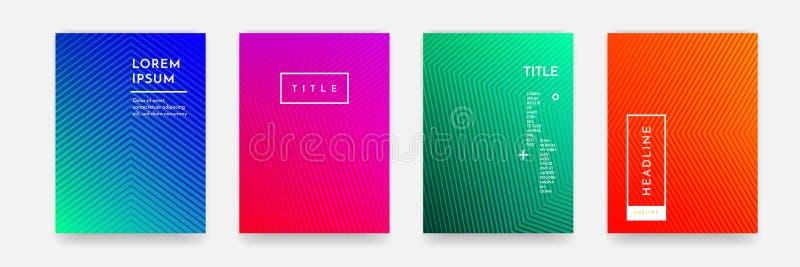 Абстрактная текстура картины цвета градиента для комплекта вектора шаблона обложки книги иллюстрация вектора