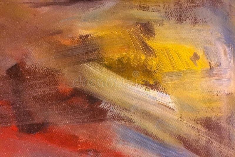 Абстрактная текстура краски масла на холсте, предпосылке стоковая фотография rf