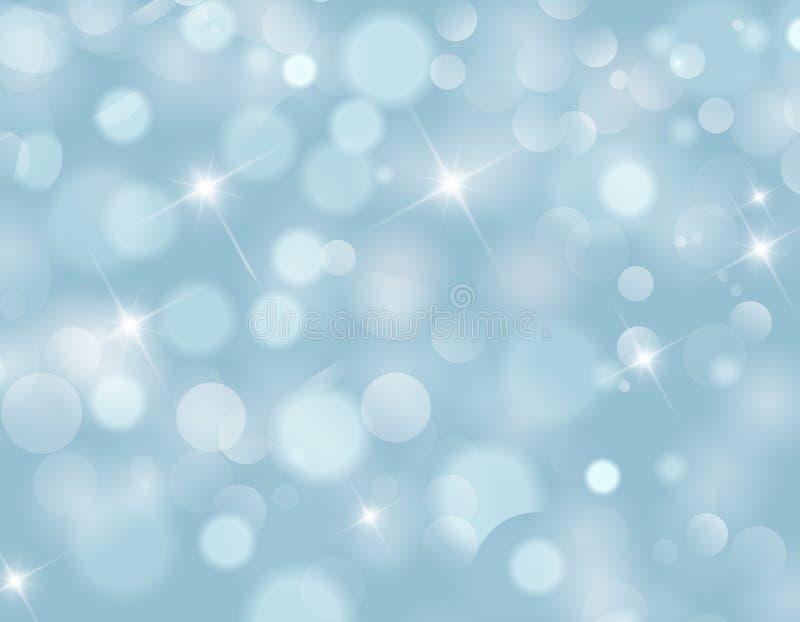 Абстрактная текстура предпосылки bokeh света голубого неба иллюстрация штока