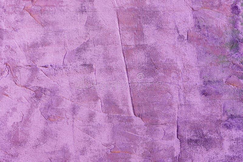 Абстрактная текстура предпосылки concret яркого фиолетового цвета грубого стоковое фото