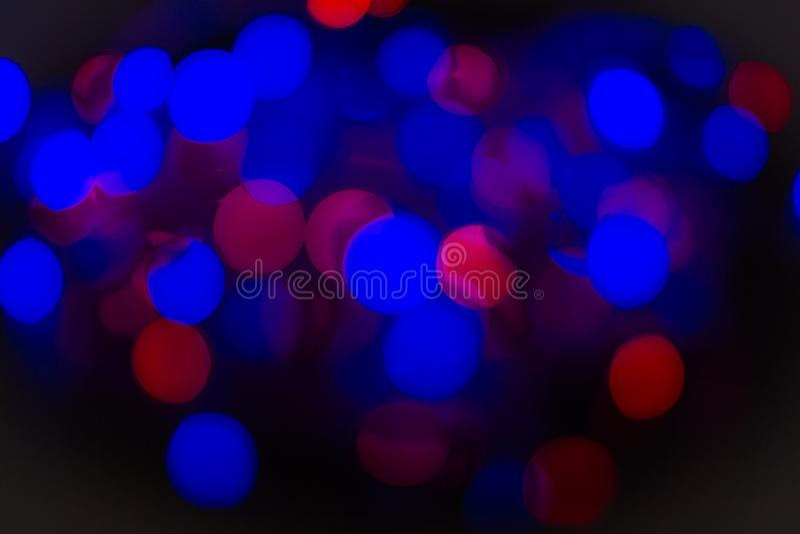 Абстрактная текстура Bokeh красочная синь Defocused предпосылка запачкала яркий свет стоковые изображения