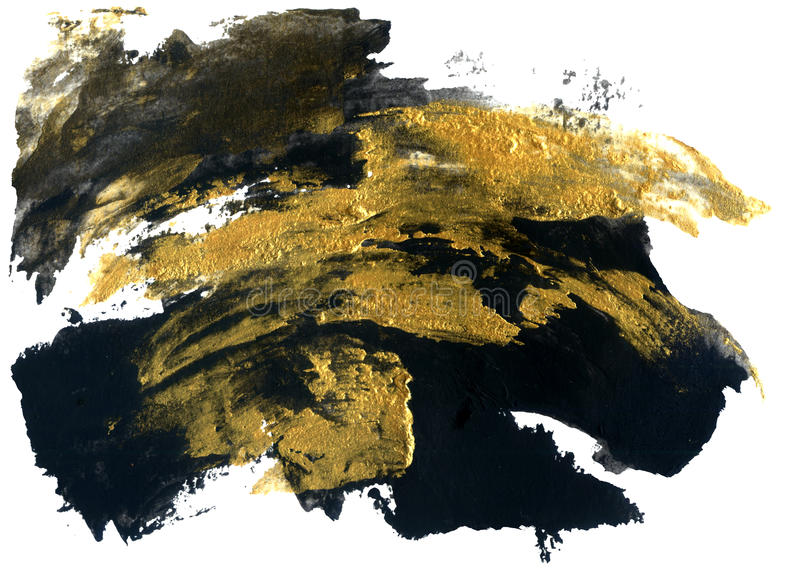 абстрактная текстура grunge Золотая и черная текстура хода иллюстрация штока
