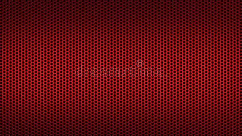 Абстрактная текстурированная картина с предпосылкой круглых отверстий промышленной передернула красное бесплатная иллюстрация