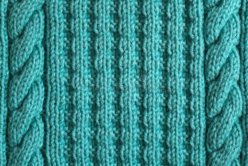Абстрактная текстурированная предпосылка голубой вязать стоковое фото rf