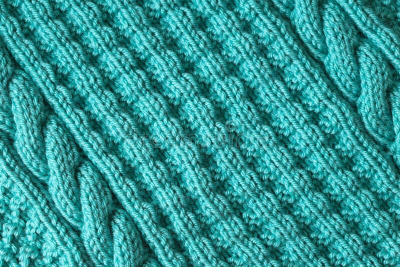 Абстрактная текстурированная предпосылка голубой вязать стоковая фотография rf