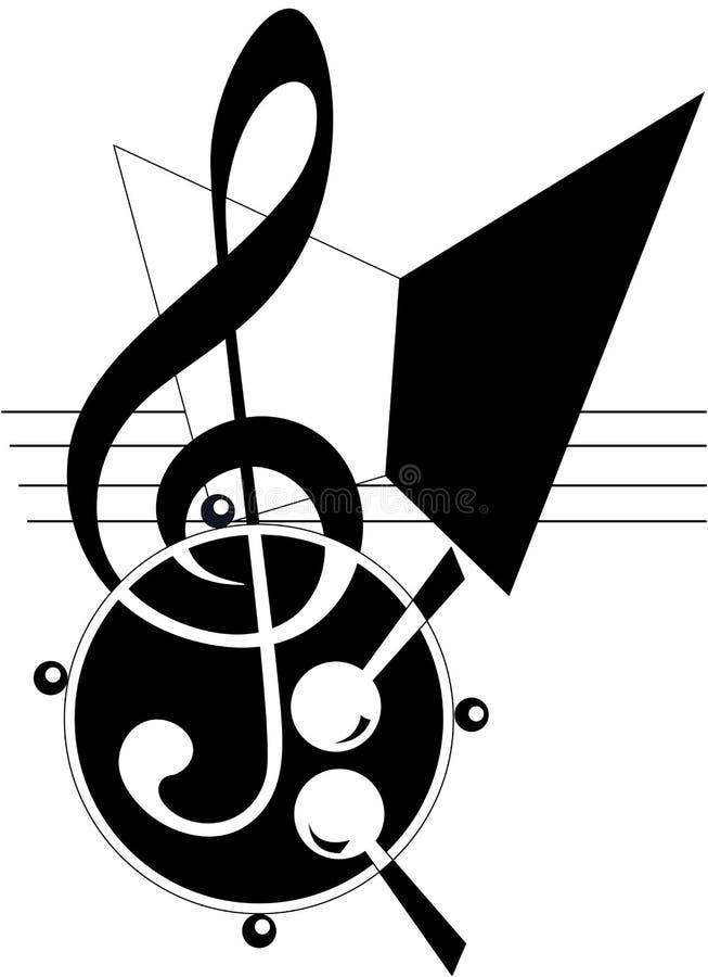 абстрактная тема нот иллюстрация вектора