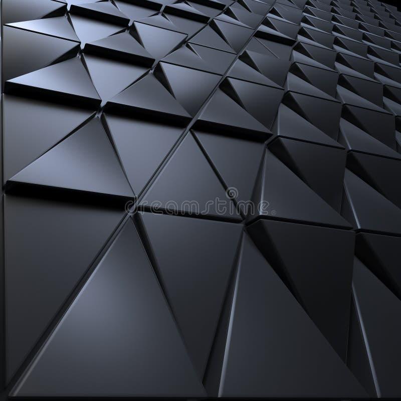 Абстрактная темная предпосылка полигональной формы triagles иллюстрация вектора