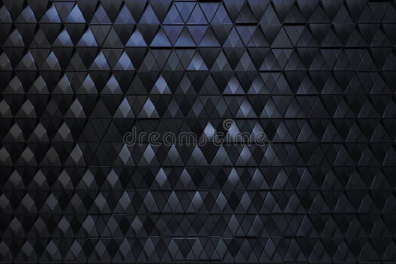 Абстрактная темная предпосылка полигональной формы triagles иллюстрация штока