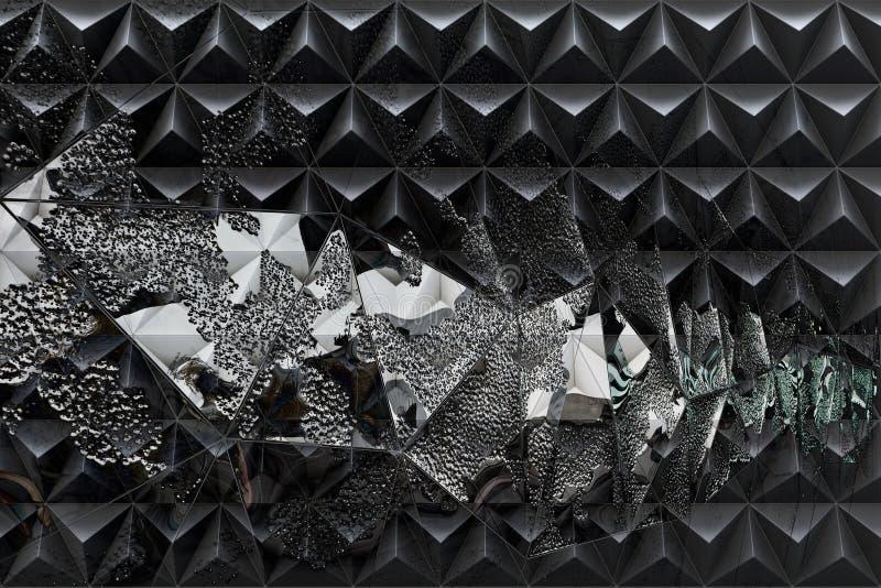 Абстрактная темная предпосылка с двойной экспозицией бесплатная иллюстрация