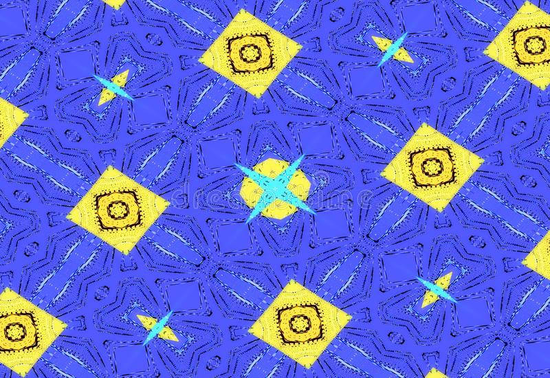 абстрактная темнота предпосылки Голубая уникально картина от геометрических форм иллюстрация штока