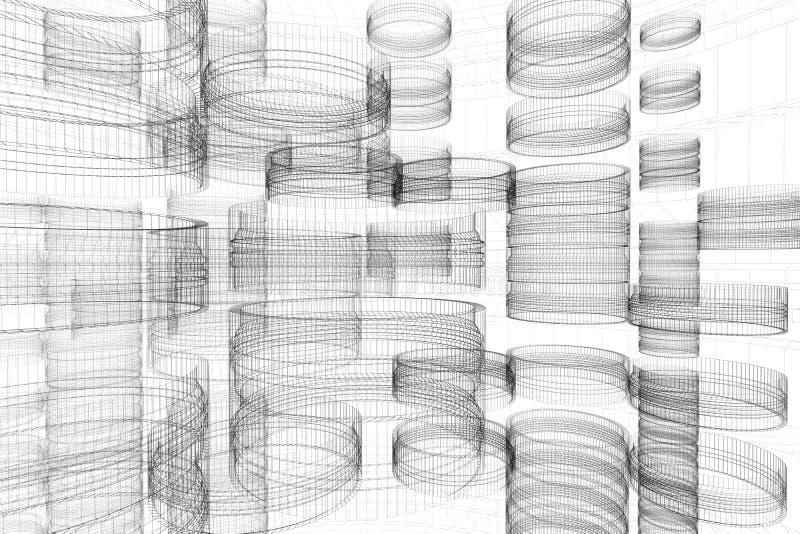 абстрактная технология конструкции иллюстрация штока