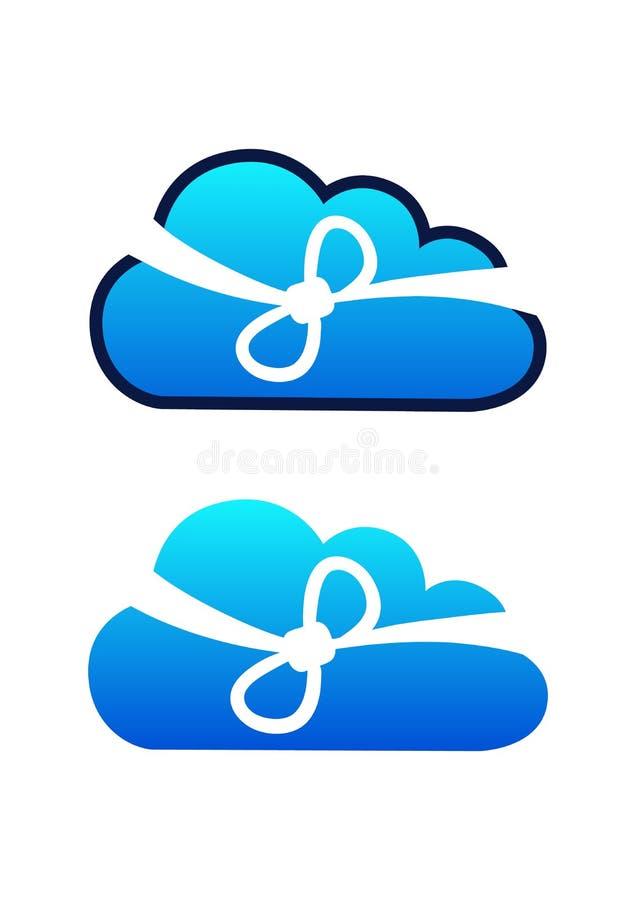 Абстрактная технология облака, вектор иллюстрация вектора