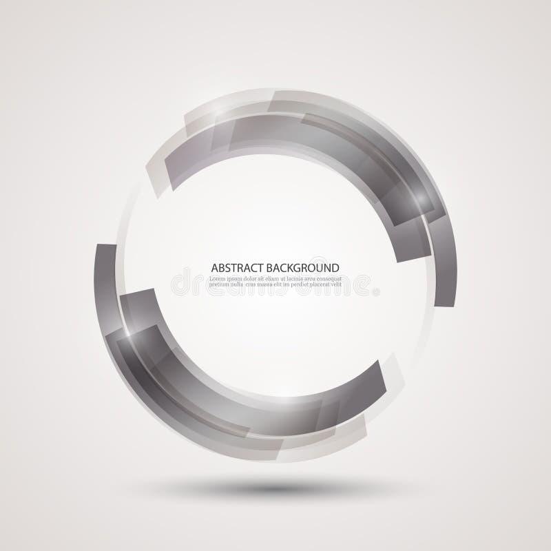 абстрактная технология предпосылки Серые прямоугольники в форме круга иллюстрация штока