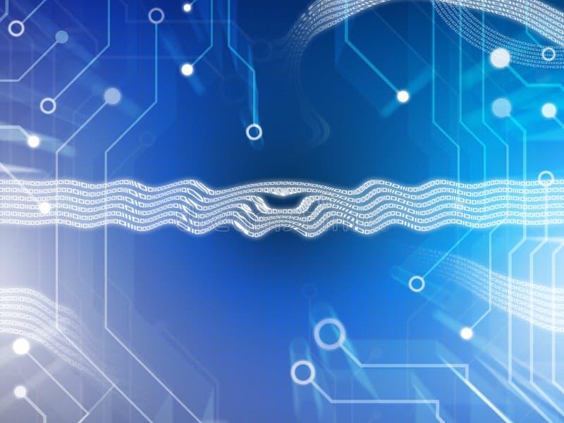 абстрактная технология цепи иллюстрация вектора