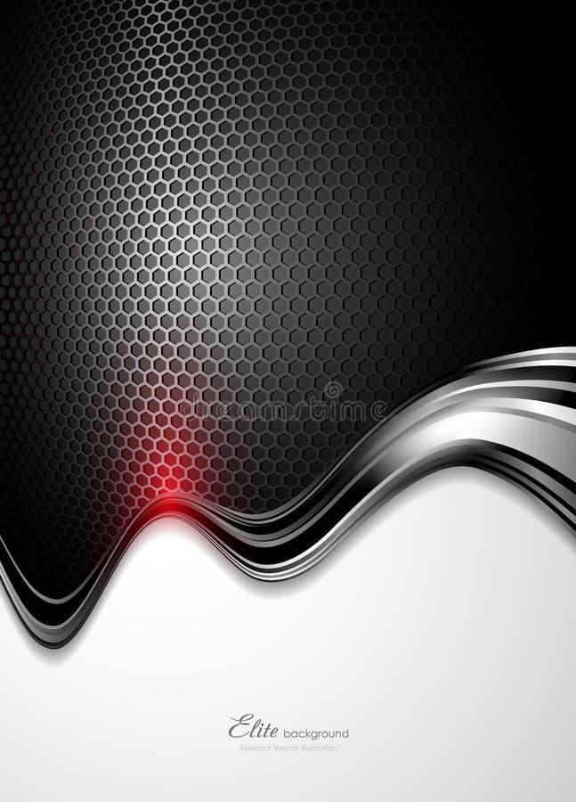 абстрактная технология черноты предпосылки бесплатная иллюстрация