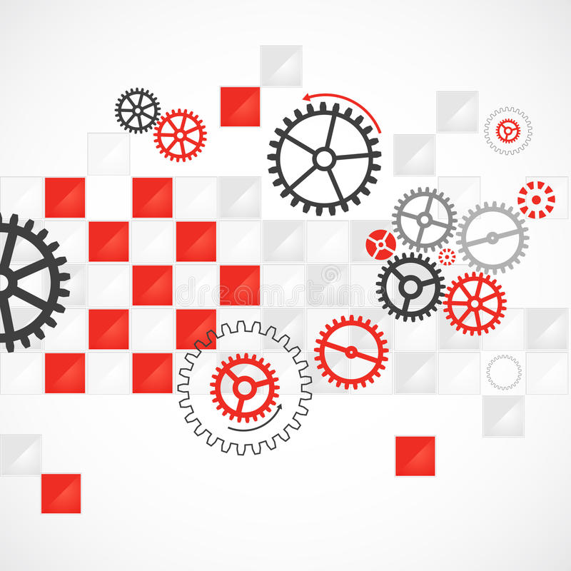 Абстрактная технологическая предпосылка с различными cogwheels бесплатная иллюстрация