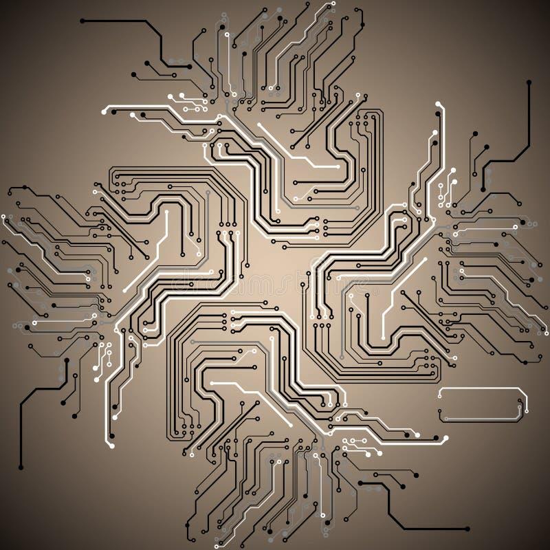 Абстрактная технологическая предпосылка бесплатная иллюстрация
