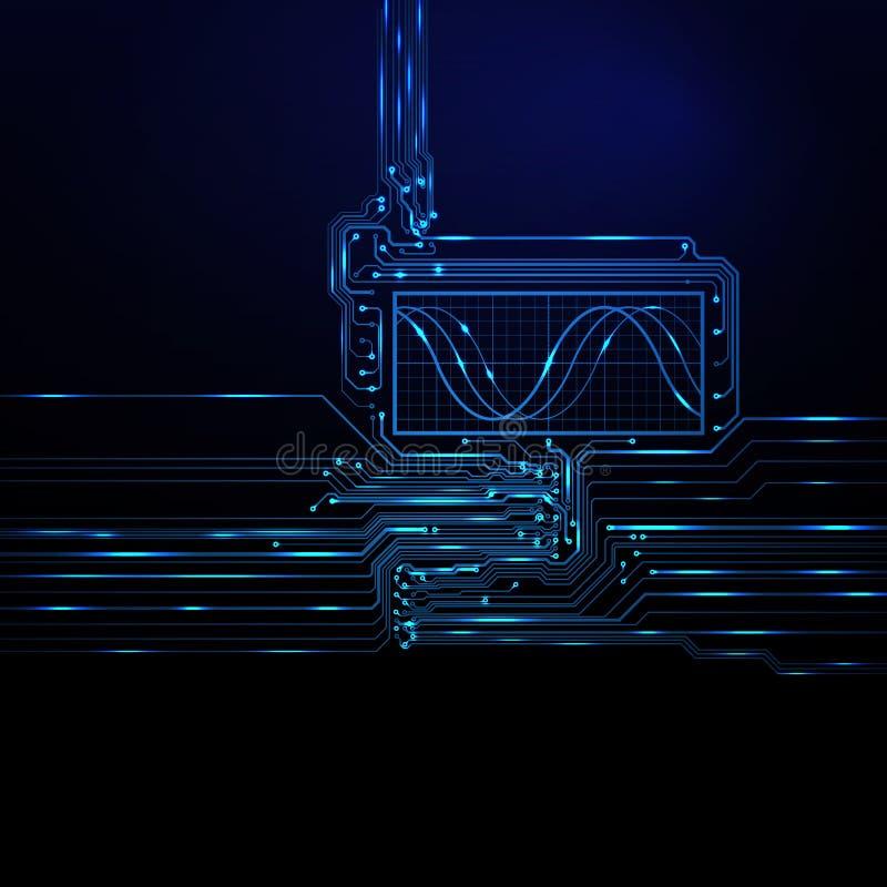 Абстрактная технологическая предпосылка иллюстрация штока