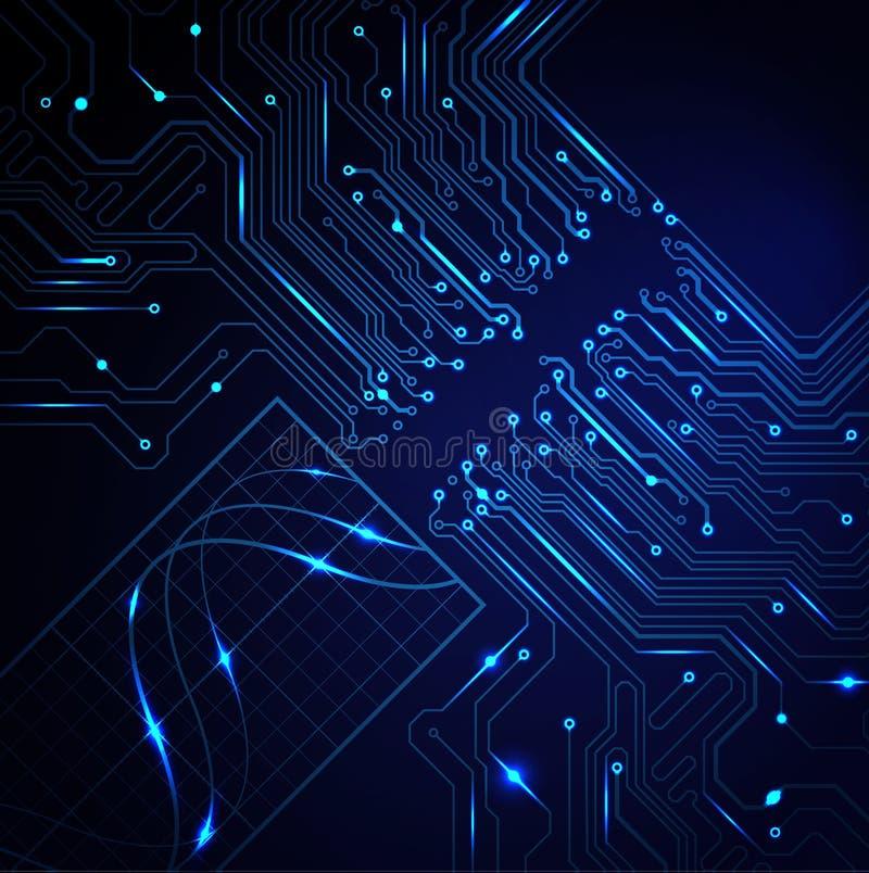Абстрактная технологическая предпосылка иллюстрация вектора