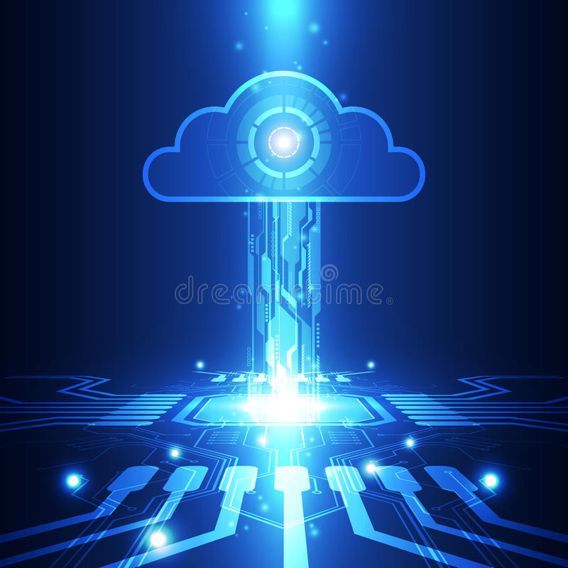Абстрактная технология в будущей предпосылке, иллюстрация облака вектора иллюстрация вектора