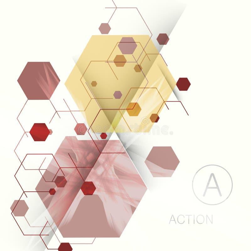 Абстрактная технология предпосылки шестиугольника Иллюстрация вектора для ваших идей иллюстрация вектора