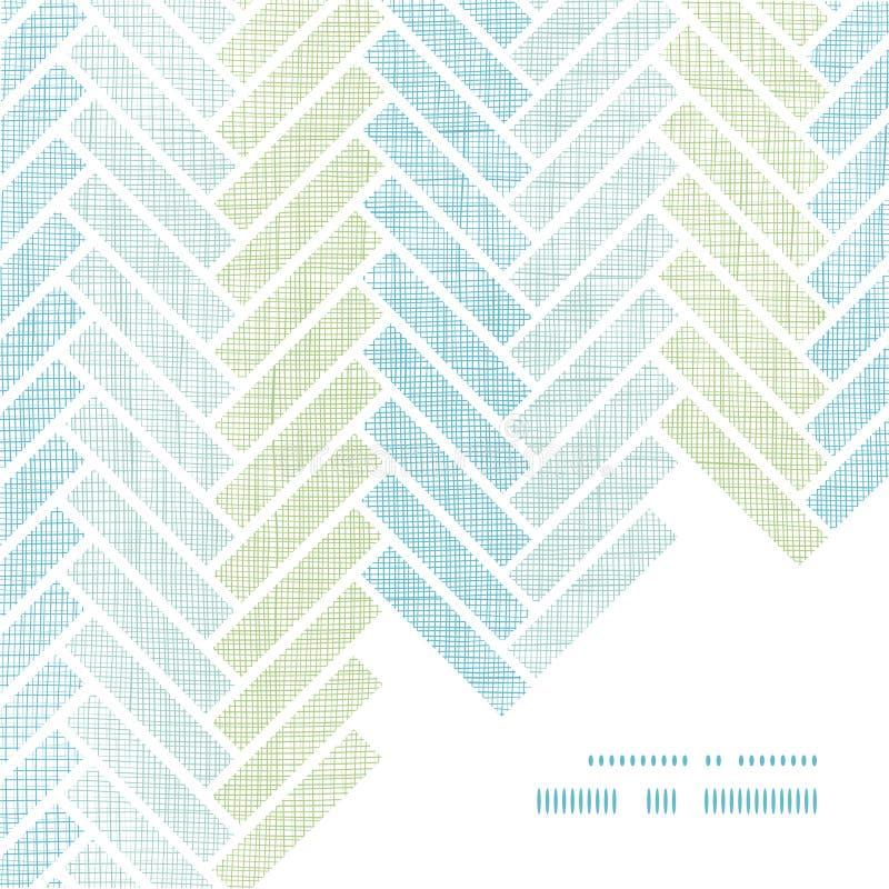 Абстрактная ткань stripes угол рамки партера иллюстрация вектора