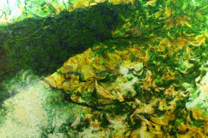 Абстрактная тоска краски осени иллюстрация штока