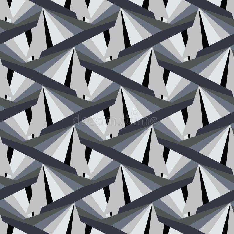 Абстрактная триангулярная предпосылка в цветах графита Урбанско иллюстрация штока