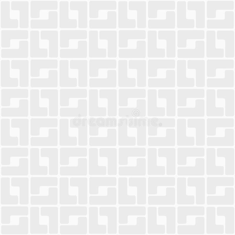 Абстрактная ультрамодная безшовная картина геометрического орнамента Округленные квадратные плитки бесплатная иллюстрация