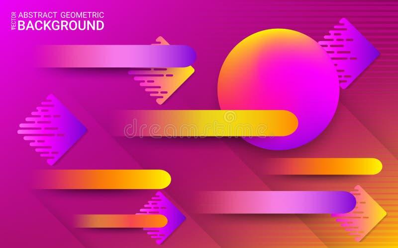 Абстрактная ультрафиолетов предпосылка вектор Живые градиенты и динамические геометрические формы бесплатная иллюстрация