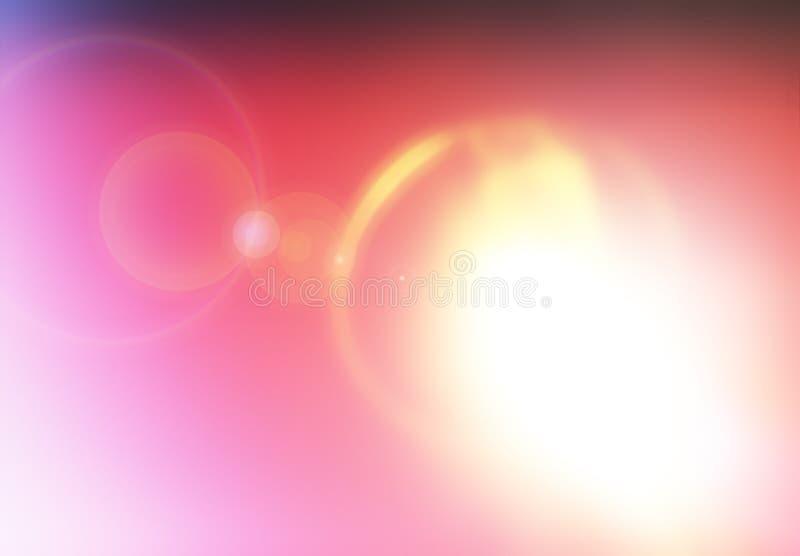 Абстрактная утечка света сферы солнца с предпосылкой пирофакела