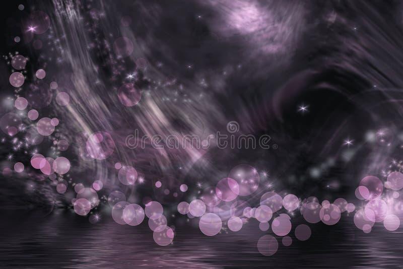 Абстрактная фантазия в темноте - серый цвет и пинк иллюстрация вектора