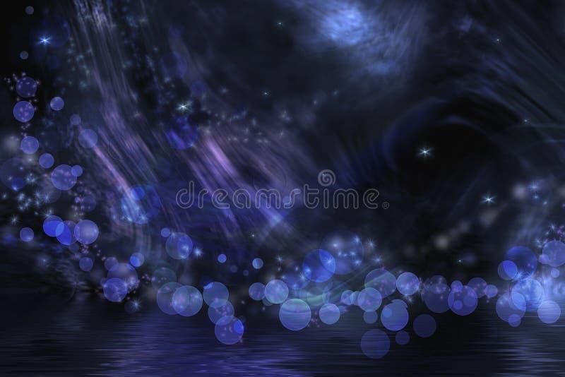 Абстрактная фантазия в черной и сини иллюстрация вектора