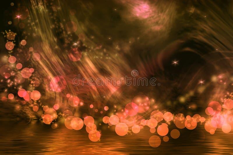 Абстрактная фантазия в яркие померанцовом и коричнево иллюстрация штока