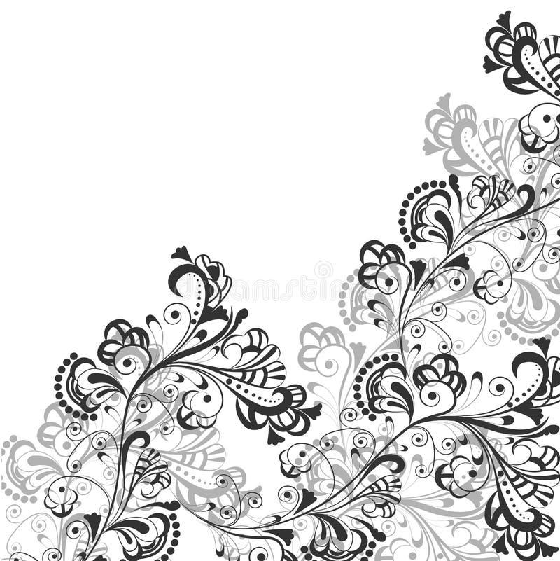 абстрактная флористическая картина 2 иллюстрация вектора