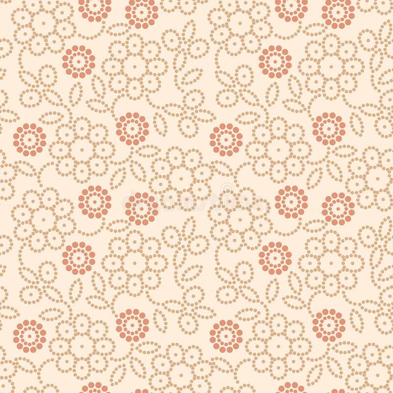 абстрактная флористическая картина иллюстрация вектора