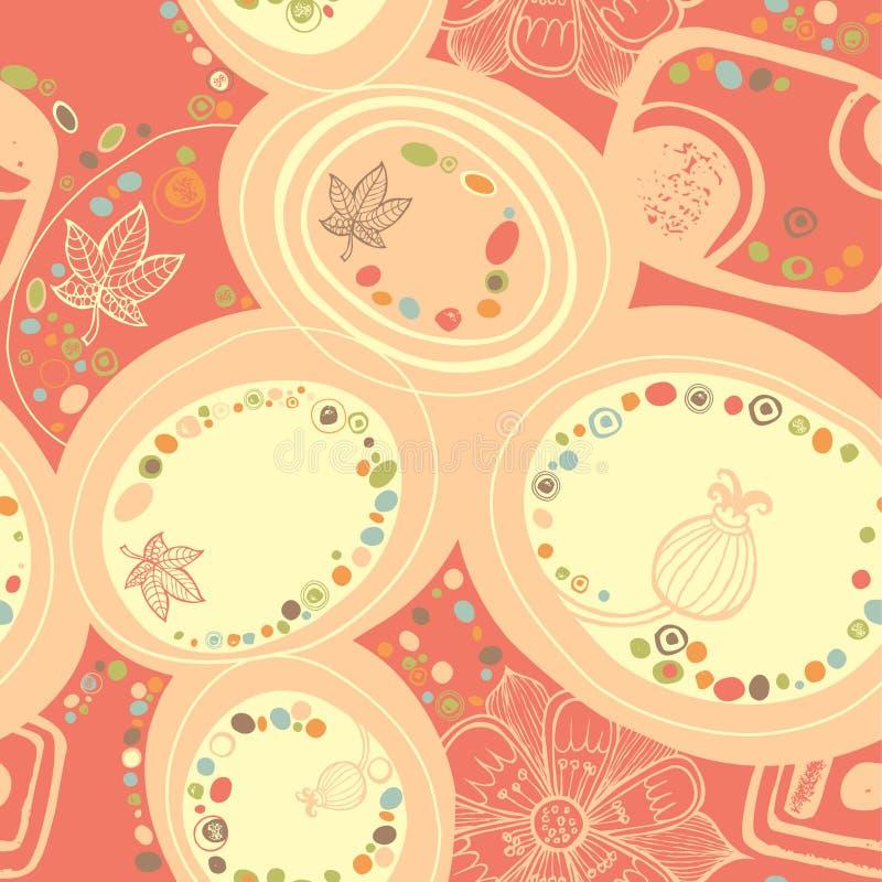 абстрактная флористическая картина 3 иллюстрация вектора