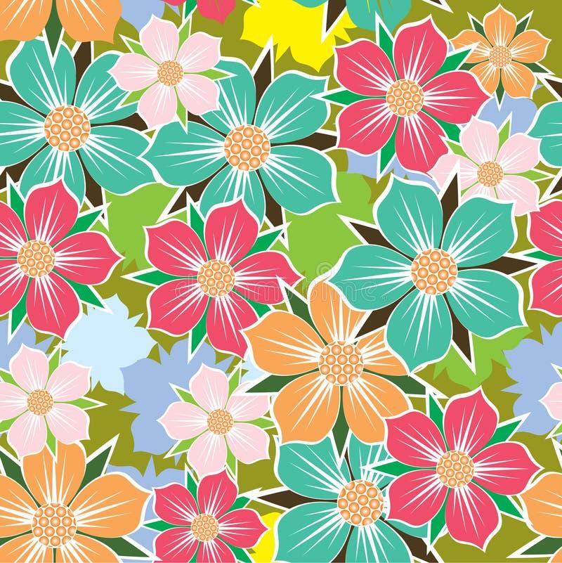 Абстрактная флористическая предпосылка. Безшовная картина. стоковые изображения