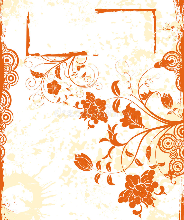 абстрактная флористическая рамка бесплатная иллюстрация