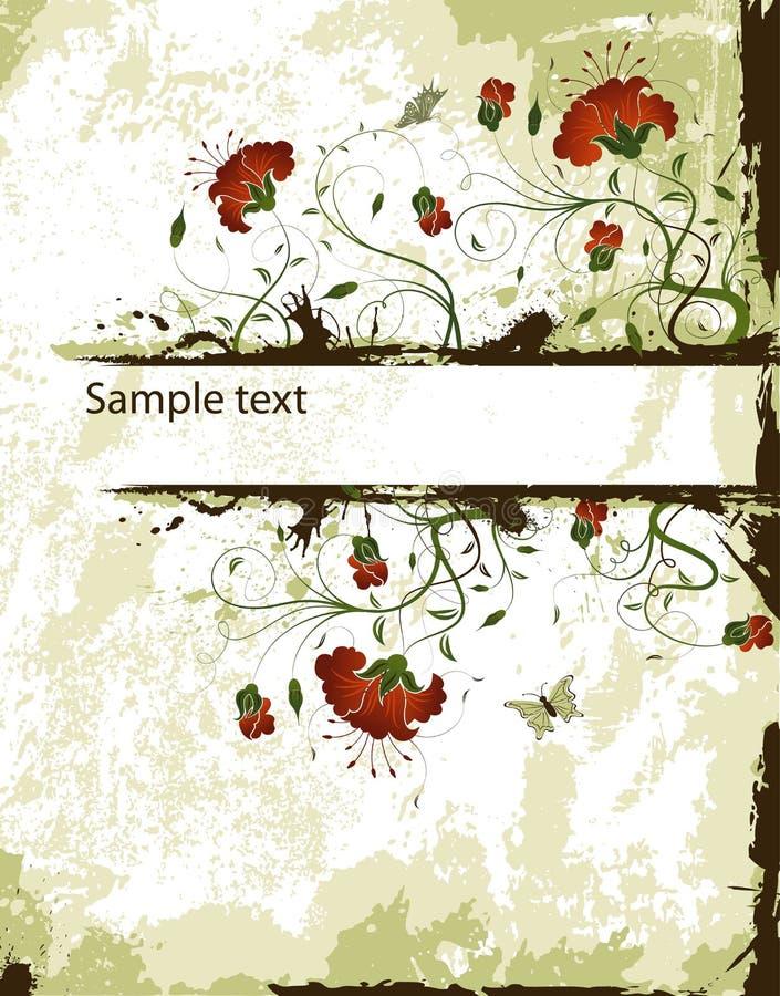 абстрактная флористическая рамка иллюстрация штока