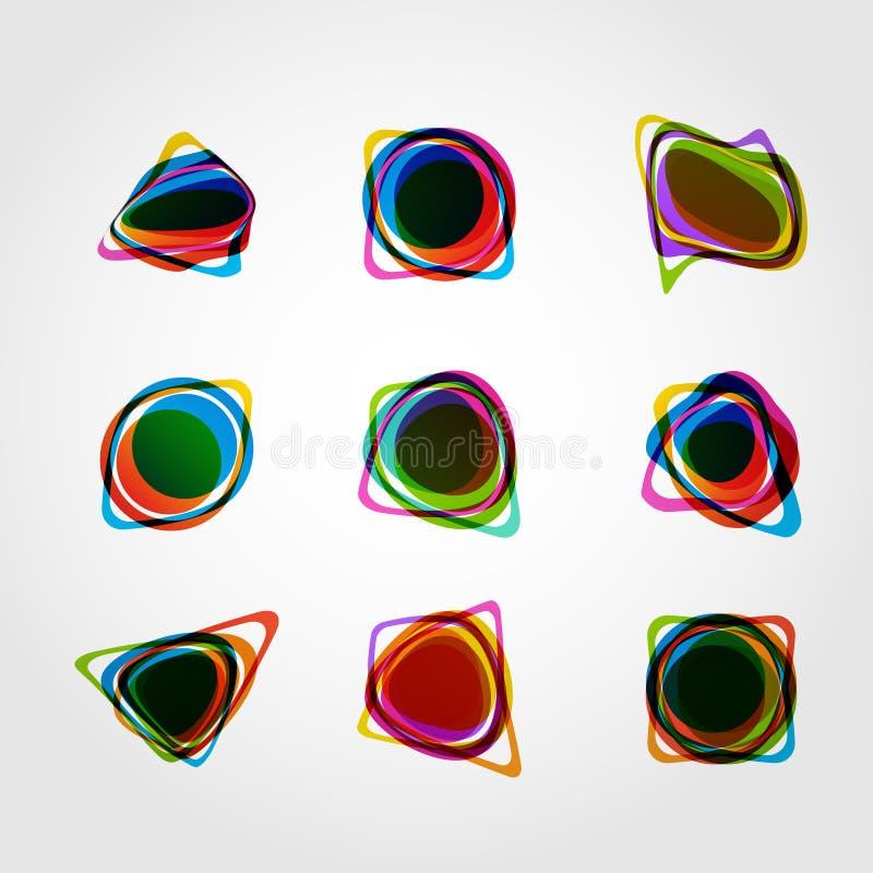 Абстрактная форма вектора Дизайн eps10 цветного барьера бесплатная иллюстрация