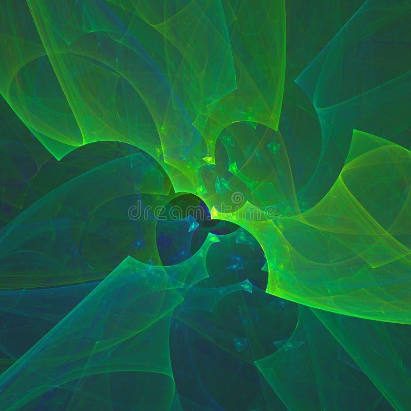 Абстрактная фракталь накаляя зеленый Дизайн, тема науки бесплатная иллюстрация